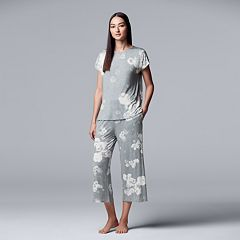 Women's Simply Vera Vera Wang Top & Capri Pajama Set