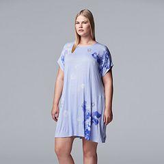 Plus Size Simply Vera Vera Wang Floral Sleepshirt