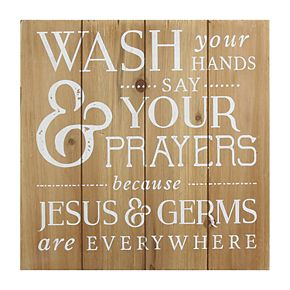 "Stratton Home Decor ""Wash Your Hands"" Wall Decor"