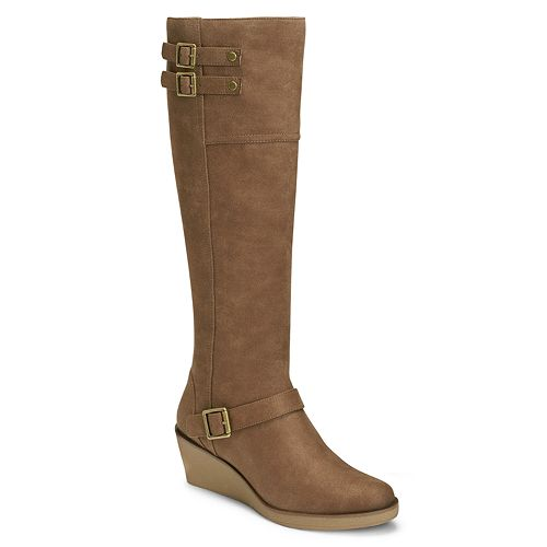 A2 by Aerosoles Robins Egg Women's Wedge Knee-High Boots