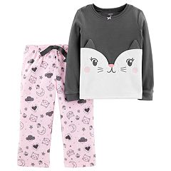 Toddler Girl Top & Microfleece Bottoms Pajama Set