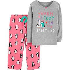 Toddler Girl Top & Microfleece Bottoms Pajama Set
