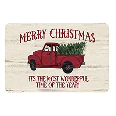 'Merry Christmas' Neoprene Kitchen Mat - 22' x 31'