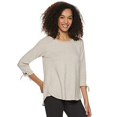 Women's SONOMA Goods for Life™ Knot Sleeve Supersoft Top