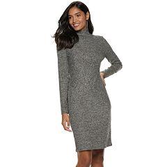 Women's Jennifer Lopez Mockneck Midi Sweaterdress