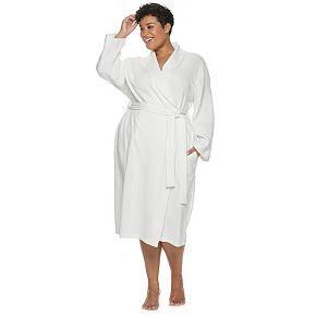 Plus Size Croft & Barrow® Shawl-Collar Waffle Robe