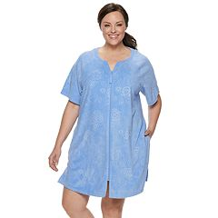Plus Size Croft & Barrow® Embossed French Terry Robe