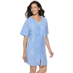Petite Croft & Barrow® Embossed French Terry Robe