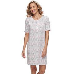 Women's Croft & Barrow® Printed Henley Sleepshirt