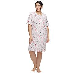 Plus Size Croft & Barrow® Printed Henley Sleepshirt