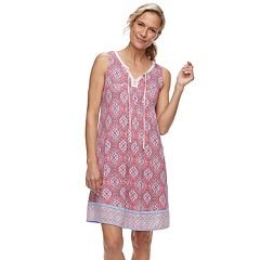 Women's Croft & Barrow® Printed Sleeveless Nightgown