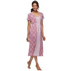 Women s Croft   Barrow® Dolman Midi Nightgown. Coral Medallion Periwinkle  Print. sale 78d4f5a77