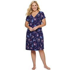 Plus Size Croft & Barrow® Printed Short Sleeve Nightgown