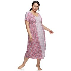 Plus Size Croft & Barrow® Dolman Midi Nightgown