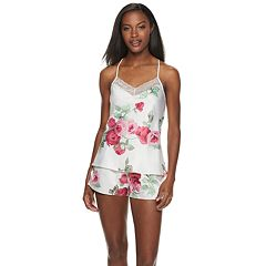 Women's Apt. 9® Satin Cami Top & Pajama Shorts Set