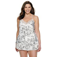 Plus Size Apt. 9® Satin Cami Top & Pajama Shorts Set