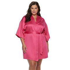 Plus Size Apt. 9® Satin Wrap Robe