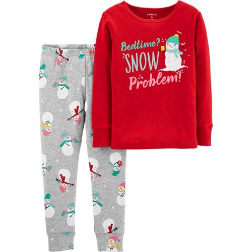 Toddler Girl Carter's Christmas Tops & Bottoms Pajama Set