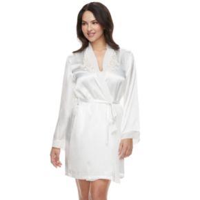 Women's Intimo Donetella Solid Wrap Robe