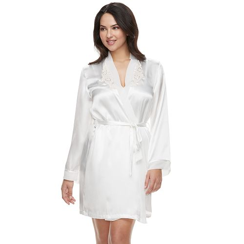 Women's Intimo Donetella Solid Wrap Robe