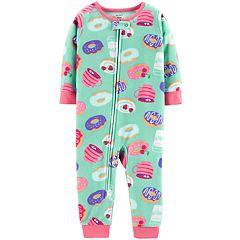 Baby Girl Carter's Printed Microfleece Footless Pajamas