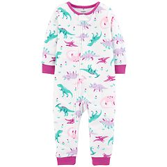 Baby Girl Carter's Printed Microfleece Footless Pajamas
