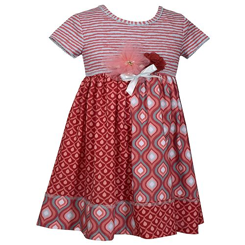 Baby Girl Bonnie Jean Rosette Pieced Dress