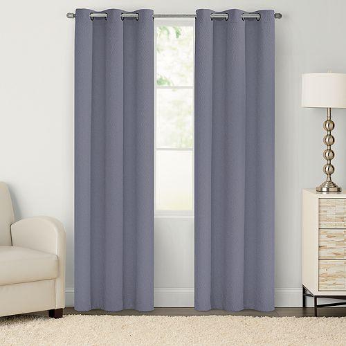 SONOMA Goods for Life™ Elliot 2-pack Embossed Trellis Window Curtains