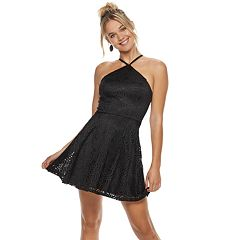Juniors' Speechless Y Neck Skater Dress