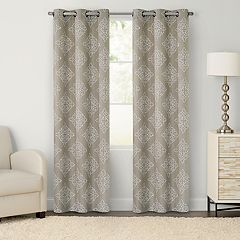 Chenille 2-pack Medallion Embroidered Window Curtains