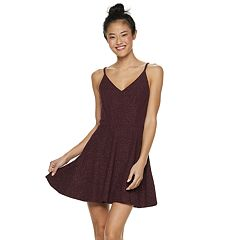 Juniors' Speechless Glitter Skater Dress
