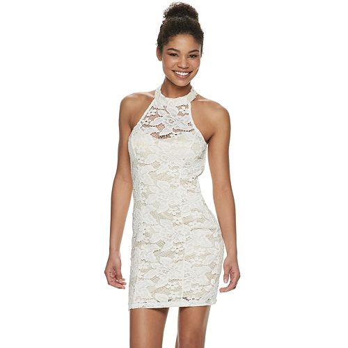 Juniors' Speechless Lace Bodycon Dress