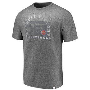 Men's Majestic Detroit Pistons Static & Fade Tee