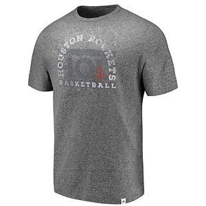 Men's Majestic Houston Rockets Static & Fade Tee
