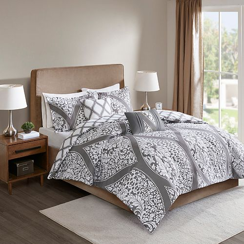 510 Design Rozelle 5-piece Reversible Print Duvet Cover Set