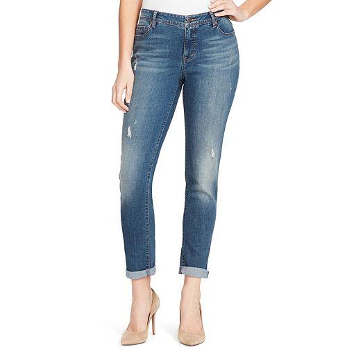 Women's Bandolino Karyn MidRise Slim Boyfriend Jeans