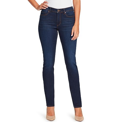 Women's Bandolino Millie Curvy Fit Slim Straight-Leg Jeans