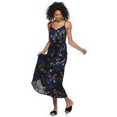 Juniors' Mudd® Wrap Midi Dress