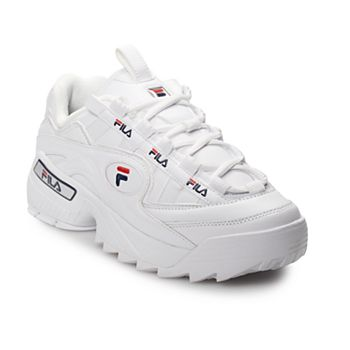 Fila Women's, D Formation Sneakers White Navy RED 9 M