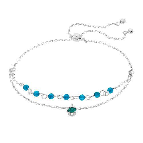 LC Lauren Conrad Dyed Quartz Birthstone Adjustable Bracelet