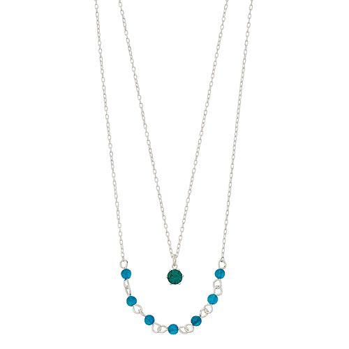 LC Lauren Conrad Dyed Quartz Birthstone Double Strand Necklace