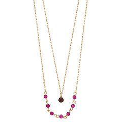 LC Lauren Conrad Dyed Quartz Birthstone Double Strand Necklace