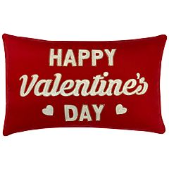 Celebrate Valentine's Day Together Happy Valentine's Day Oblong Throw Pillow