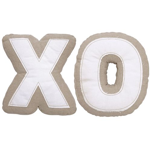 Celebrate Valentine's Day Together Shaped XO 2-pack Throw Pillow Set