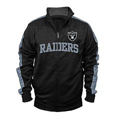 Big & Tall Majestic Oakland Raiders Streak Track Jacket