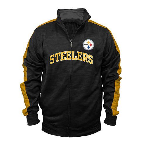 a5fa0a45454 Big & Tall Pittsburgh Steelers Streak Track Jacket