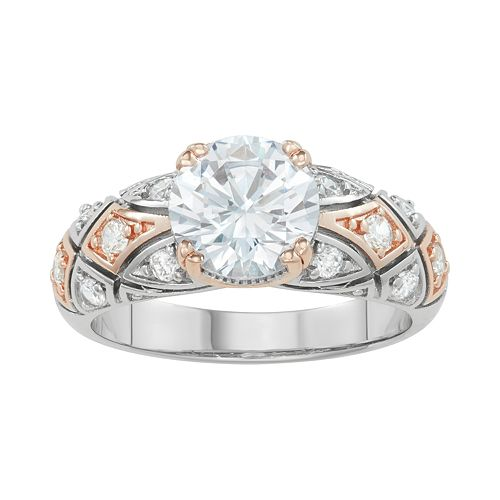 Lily & Lace Cubic Zirconia 14k Rose Gold over Brass Ring