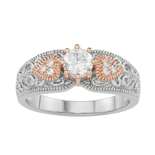 Lily & Lace 14k Rose Gold over Brass Cubic Zirconia Ring