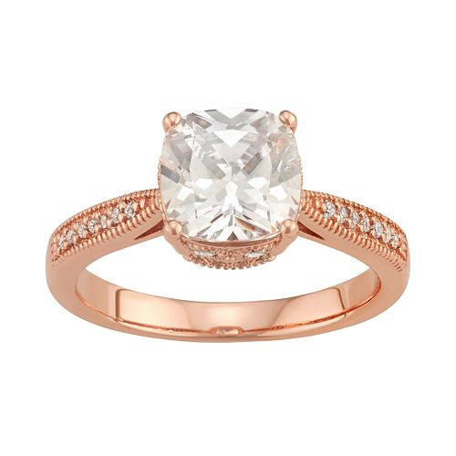 Lily & Lace 14k Rose Gold Over Bronze Cubic Zirconia Ring