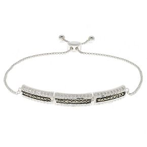 Silver Expressions by LArocks Marcasite & Cubic Zirconia Bar Bracelet